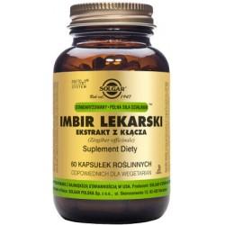 Solgar Imbir Lekarski ekstrakt x 60 kapsułek roślinnych