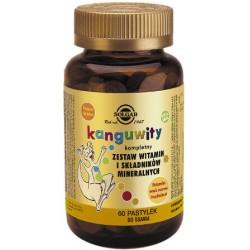 Solgar Kanguwity Kompletny zestaw witamin i minerałów (smak owoców tropikalnych)  x 60 pastylek do ssania