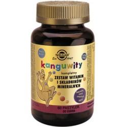 Solgar Kanguwity Kompletny zestaw witamin i minerałów (smak soczystych jagód)  x 60 pastylek do ssania