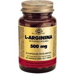 Solgar L-Arginina w postaci wolnej 500mg x 50 kapsułek roślinnych