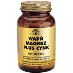 Solgar Wapń Magnez Plus Cynk x 100 tabletek