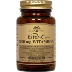 Solgar Ester-C Plus 1000mg Witaminy C niekwasowe źródło witaminy C x 30 tabletek