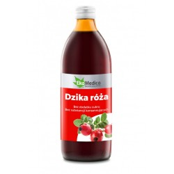Dzika Róża Sok bez dodatku cukru 500ml EKAMEDICA