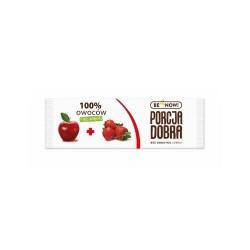 Porcja Dobra 100% owoców Jabłko - Truskawka Przekąska - Listek 16g