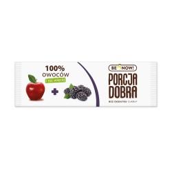 Porcja Dobra 100% owoców Jabłko - Jeżyna Przekąska - Listek 16g