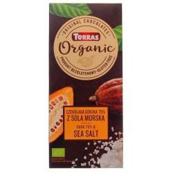 Czekolada Torras Organic Gorzka 70% z solą morską Bezglutenowa 100g