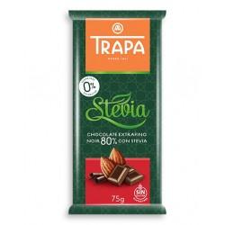 Czekolada Trapa Gorzka 80% kakao ze stewią Bez dodatku cukru Bezglutenowa 75g