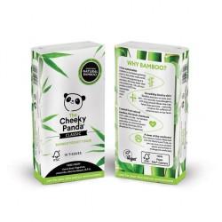 Bambusowe chusteczki higieniczne kieszonkowe x 1 szt. (1 paczka x 10 chusteczek) The Cheeky Panda