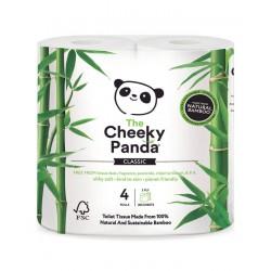 Bambusowy Papier toaletowy trzywarstwowy 4 rolki The Cheeky Panda