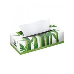Bambusowe chusteczki do twarzy płaskie pudełko (80 chusteczek) The Cheeky Panda