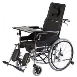 Wózek inwalidzki specjalny stabilizujący plecy i głowę z funkcją toalety RECLINER PLUS VITEA CARE VCWK7T