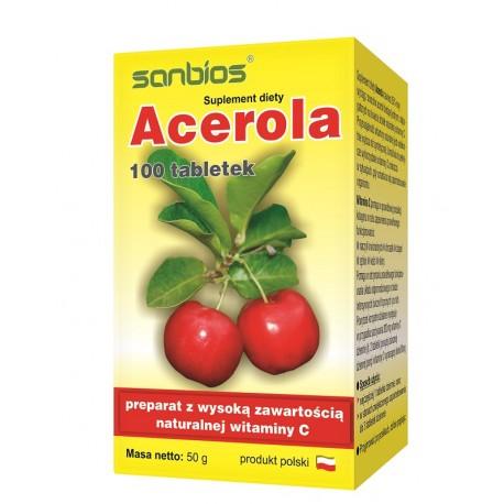 Acerola x 100 tabletek SANBIOS