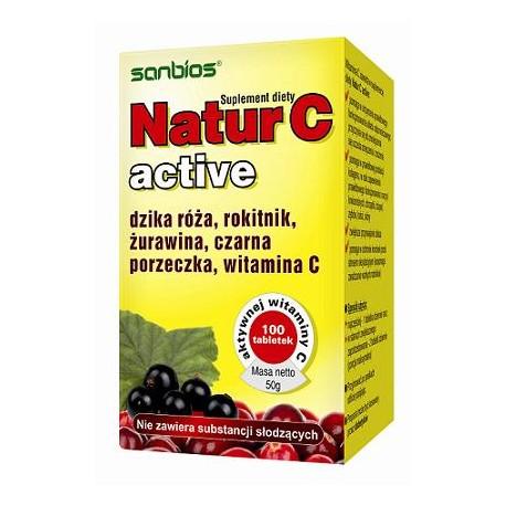Natur C Active x 100 tabletek SANBIOS