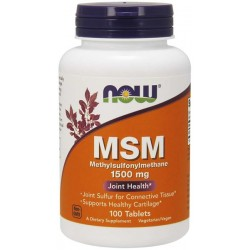 Now MSM 1500 mg x 100 tabl.   NOW Foods