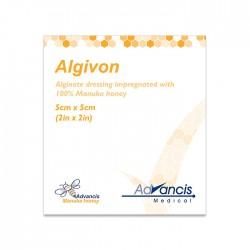 Opatrunek Algivon alginianowy nasączony Miodem Manuka 100% 5x5cm 1 szt.