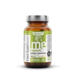 Pharmovit Herballine Memvit - Pamięć i Koncentracja x 60 kapsułek