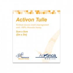 Opatrunek Activon Tulle z gazy nasączony Miodem Manuka 100% 10x10cm 1 szt.