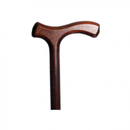 Laska inwalidzka drewniana z uchytem T  ASTON