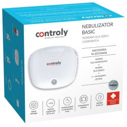 Inhalator/Nebulizator BASIC tłokowy dla dzieci i dorosłych CONTROLY