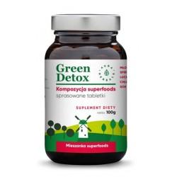 GREEN DETOX Kompozycja superfoods 100 g ok. 75 tabletek oczyszczających AURA HERBALS