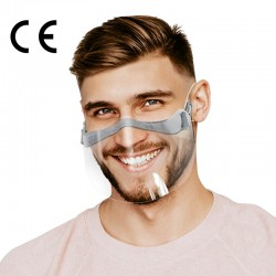 CERKAMED FACE SHIELD mini przyłbica/maska zakrywająca usta i nos z regulacją 2 szt.