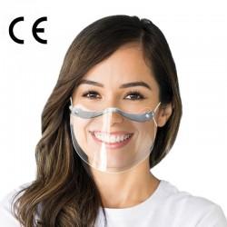 CERKAMED FRONT SHIELD mini przyłbica / przezroczysta maska zakrywająca usta i nos z regulacją 2 szt. / DOSTĘPNE OD RĘKI! /