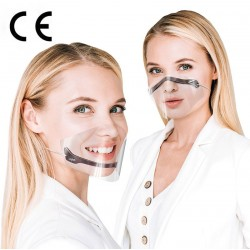 CERKAMED Transparentne osłonki na usta i nos DUAL SHIELD – 5 szt.