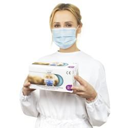 Medyczna maska jednorazowa 3-warstwowa na gumki, zabiegowa VITAMMY MASK S x 50 szt.