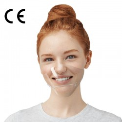 CERKAMED Transparentne osłonki na usta i nos BEST SHIELD – 2 szt.