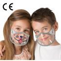 CERKAMED KIDS SHIELD mini przyłbica/maska DLE DZIECI zakrywająca usta i nos z regulacją 2 szt.
