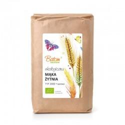 Mąka żytnia TYP 2000 razowa 1kg BATOM BIO