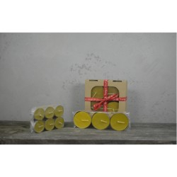 Świece z wosku pszczelego Tealight 100% naturalne duże 3 szt. Miody Dworskie