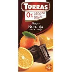 Czekolada gorzka z pomarańczą Bez cukru 75 G TORRAS