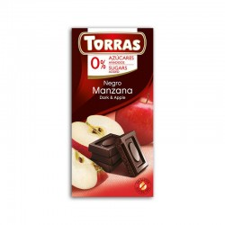 Czekolada gorzka z jabłkiem bez dodatku cukru 75g TORRAS