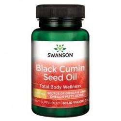 Swanson Olej z nasion czarnego kminu (Black Cumin Seed Oil) 500mg x 60 kaps.